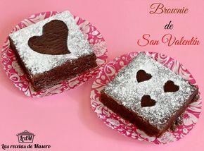 Brownie tradicional de San Valentín