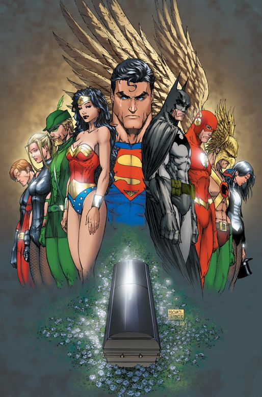 Justice League. Artwork by Michael Turner.