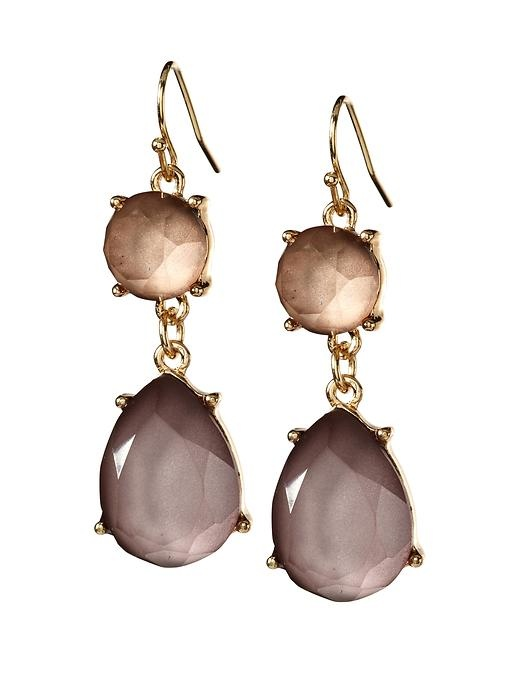 Smokey Faceted Drop Earring