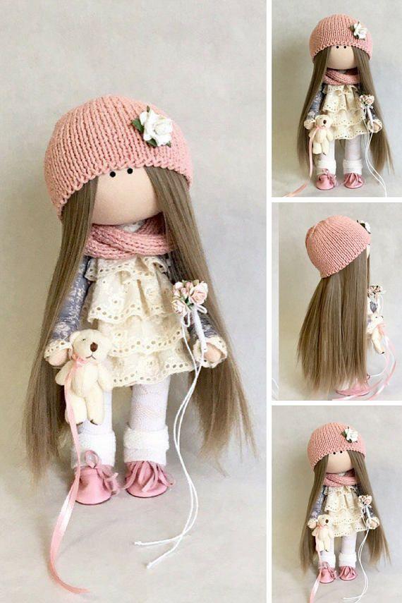Fabric doll Handmade doll Puppen Interior doll Soft doll