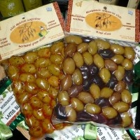 Olives from Crete vacuum-packed