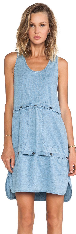 Marc Jacobs Yili Indigo Jersey Tank Dress/Crop Top