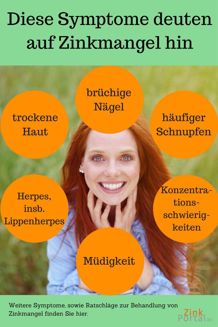 trockene Haut bzw. Kopfhauf? brüchige Nägel? Haarausfall? Herpes? Müdigkeit und Konzentrationsschwierigkeit? Das kann die Ursache von Zinkmangel sein. Informiere dich hier genau.