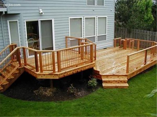 Multi Level Deck Can Easily Separate Sections With Gate