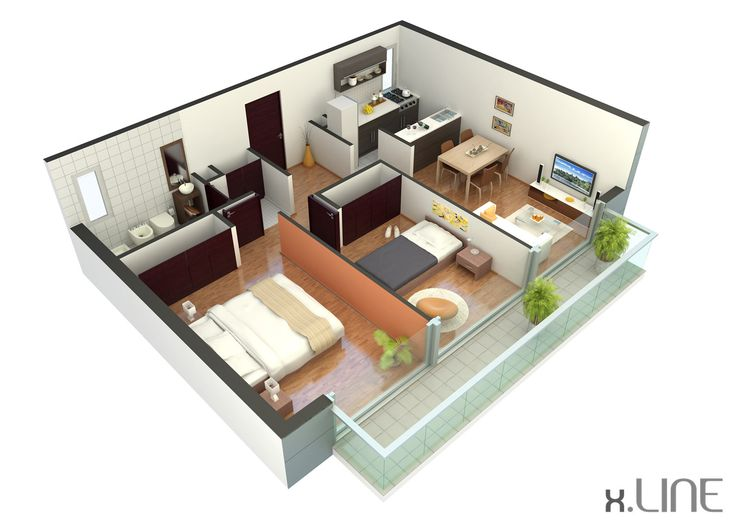 Renderig Floor Plan 02 | X.LINE 3D Visualization