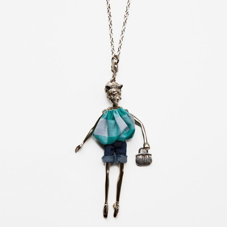 Servane Gaxotte Large Grey Gold Ballerina :: Bird Boutique :: shopbirdboutique.com