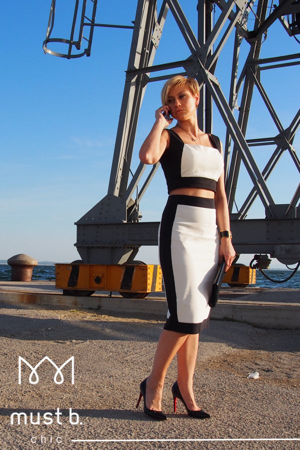 black & white dress and top fashionable SS2015