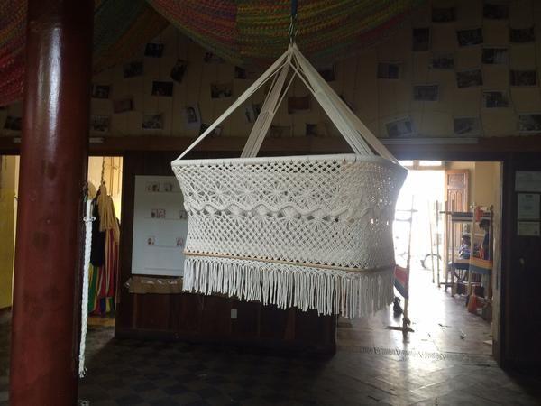 Baby Hanging Bassinet, Hanging Cradle, Hanging Crib 100% Handmade Organic Cotton - Classic - Mission Hammocks - 6