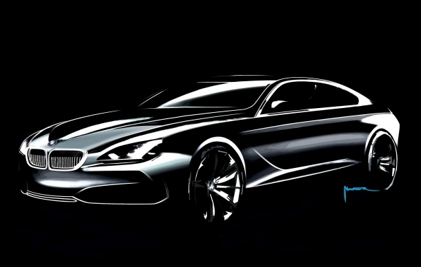 BMW's concept sketch of the Gran Coupe, which will move to production in 2012.