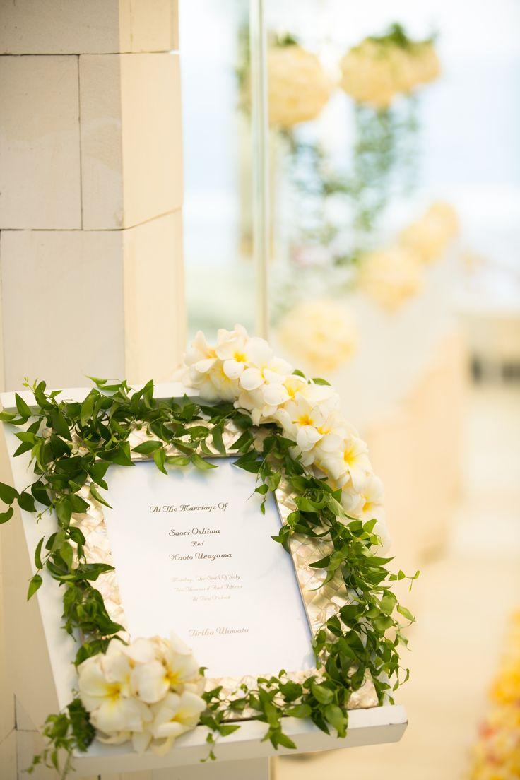 コットンキャンディホワイト ウェルカムボード #wedding #bali