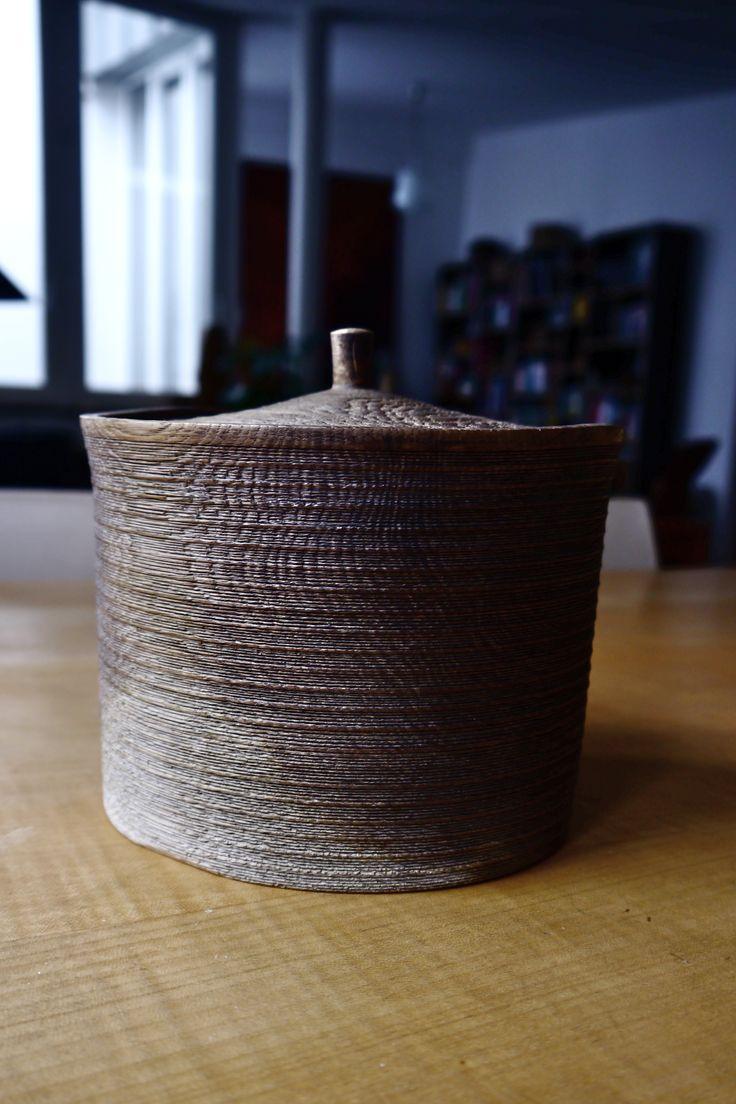 108 Aged Oakbox - ∅ 17cm, H 12,5cm