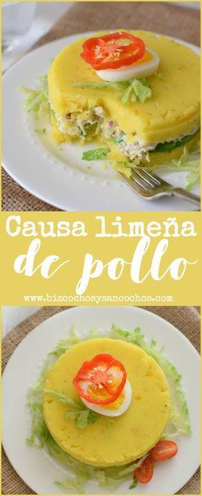 Causa limeña de pollo. Uno de los platos emblemáticos de la cocina peruana, se prepara con papa, aji, ensalada de pollo y se decora con huevo, sencilla y económica