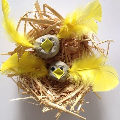 * How to make a birds nest, straw birds nest, homemade birds nest, craft bird nest