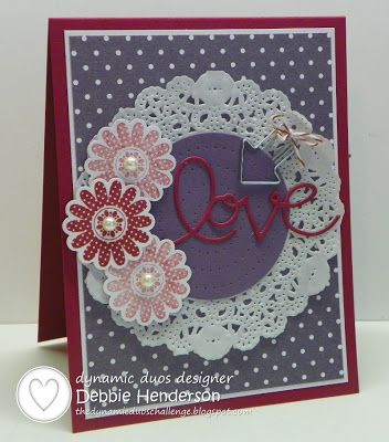 Dynamic Duos 68, Polka Dot Pieces and Expressions Thinlits Dies by Debbie Henderson, Debbie's Designs.