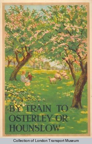 Vintage London Transport poster, 1912:  Artist Charles Sharland.