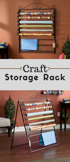 Home Marketplace Easel/Wall Mount Craft Storage Rack - Enjoy the perfect solution for storing your wrapping and tissue paper | Craft Organization | Craft Storage Rack | Wrapping Paper Storage | Tissue Paper Storage #Affiliate