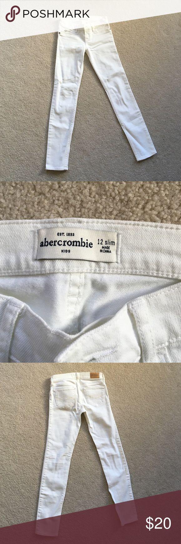 Abercrombie kids girl white denim Slim 12 abercrombie kids whit denim. abercrombie kids Bottoms Jeans