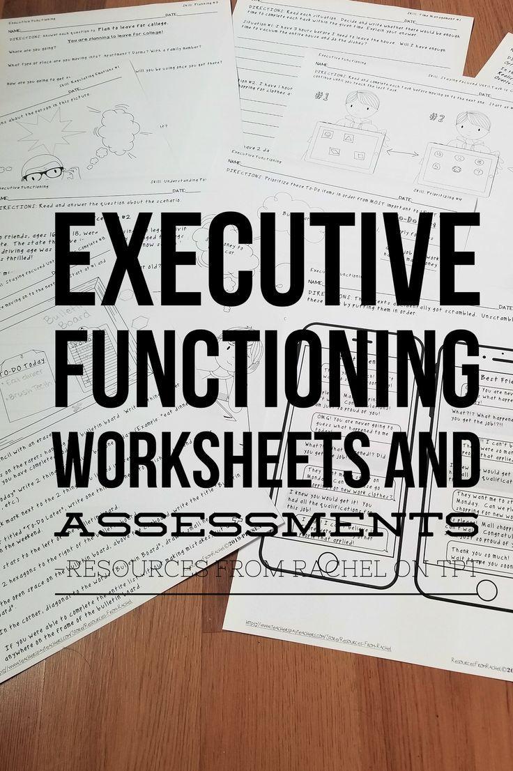 Executive Functioning Skills Bundle Worksheets And Assessments Executive Functioning Skills Executive Functioning Assessment Executive skills and reading