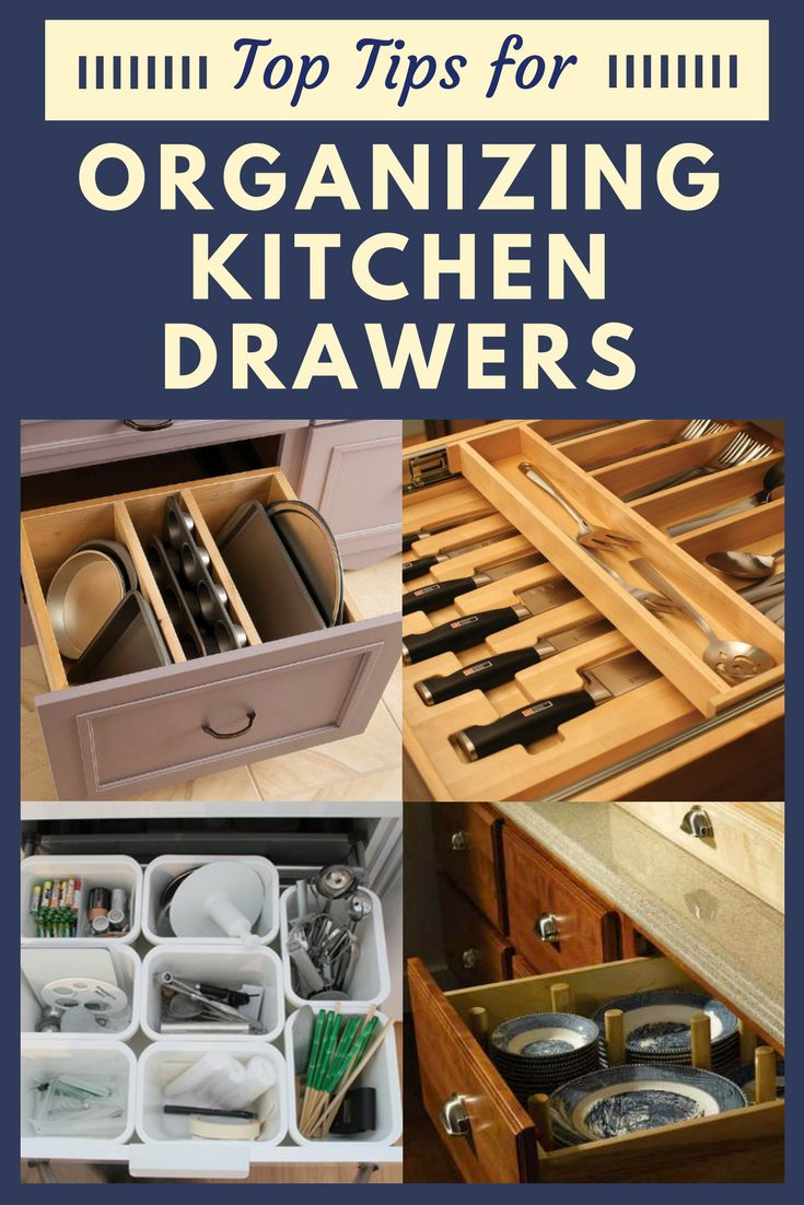 No matter the kitchen, there never seems to be enough storage space in the drawers. Drawer organization is always a challenge. Before you consider where to add more cabinets, shelves, or baskets to your kitchen, look in your kitchen drawers to assess their full potential. These drawer storage tips and tricks will help your kitchen drawers stay more organized