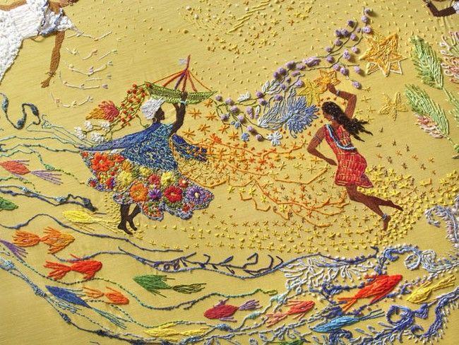 O que é que a baiana tem? (detalhe), Matizes Bordados Dumont / embroidery