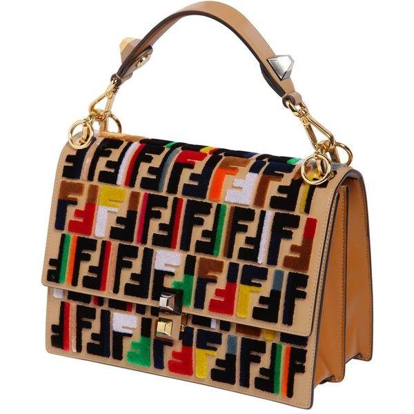 531c3b30 Fendi Women Medium Kan I Velvet Ff Logo Leather Bag ($4,120 ...