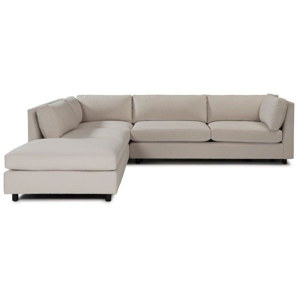 """Mitchell Gold + Bob Williams Franco 3-Piece Sectional, 120"""" x 120"""" x... (8,355 CAD) ❤ liked on Polyvore featuring home, furniture, sofas, wilton ecru, beige sofa, mitchell gold + bob williams, ivory sofa, 3pc sectional and cream couch"""