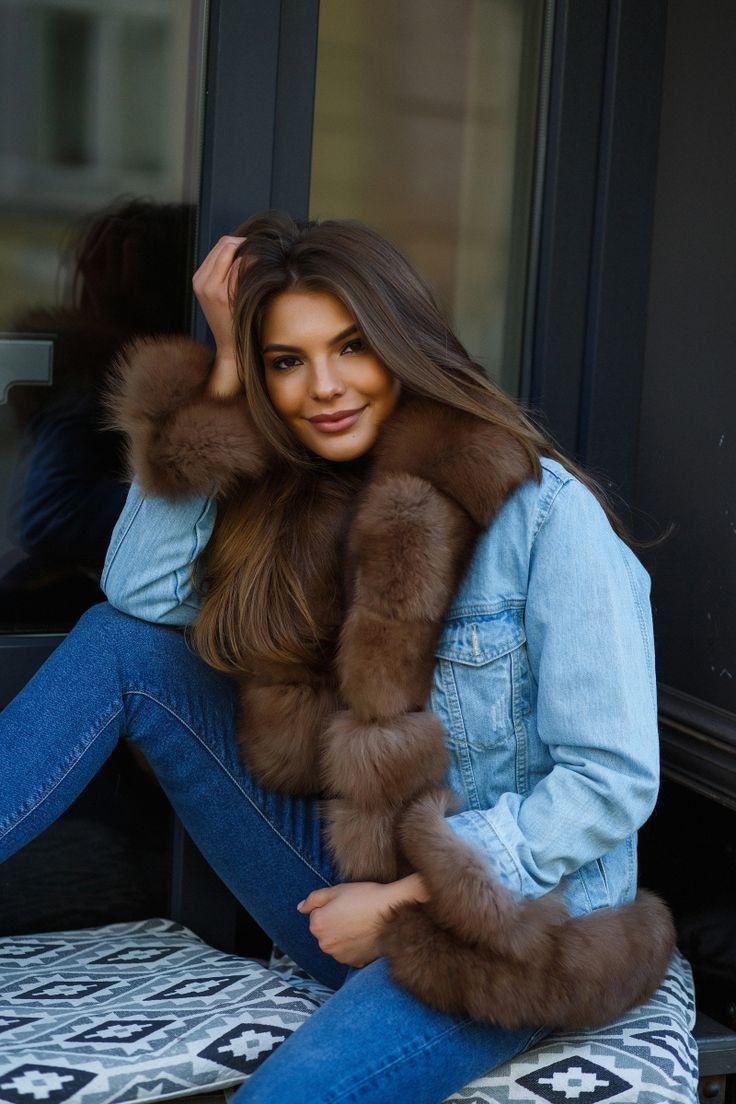 Джинсовые и джинсовки с мехом внутри купить в Москве с доставкой в день заказа. Меховые женские джинсовки представлены с мехом куницы, соболя, песца, меховые джинсовки