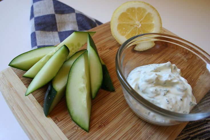 Rethink your ranch by substituting Greek yogurt for sour cream and mayonnaise. Instead of the powdered spices and salt, quickly chop up some chives, parsley, and garlic.