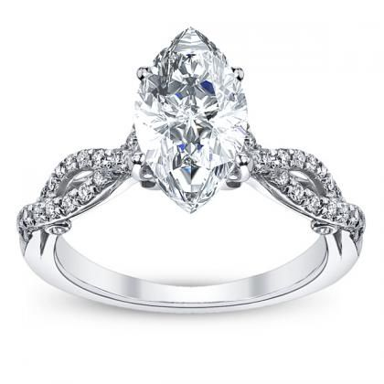 Vintage Marquise cut Engagement Rings