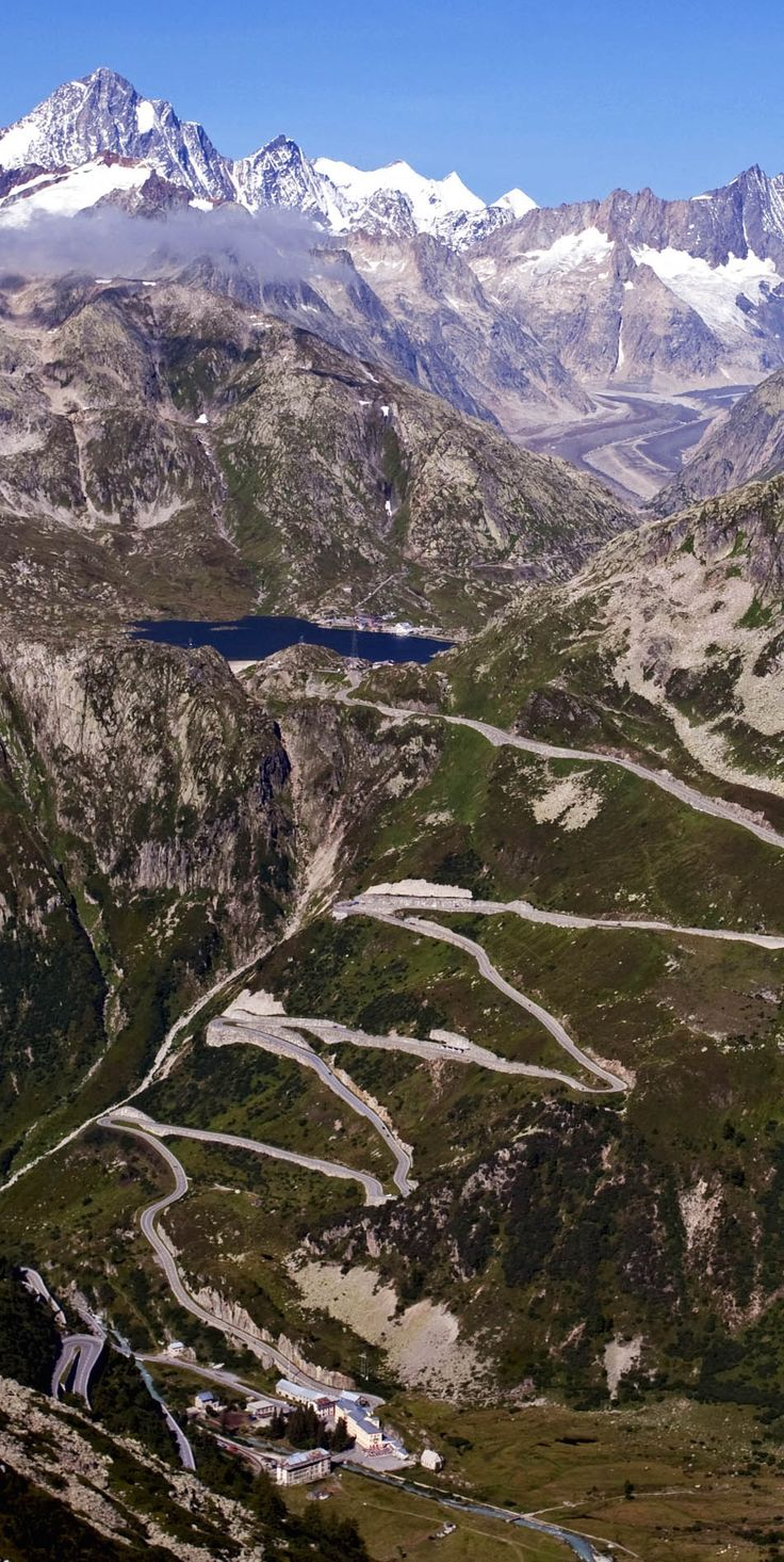 Switchbacks of the Grimsel Pass, Switzerland