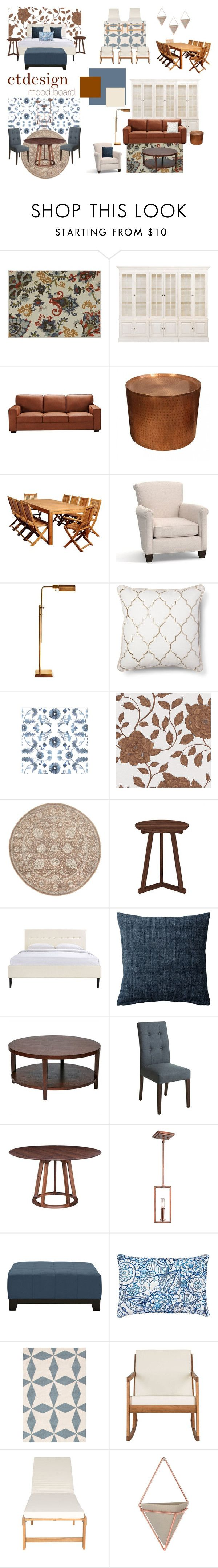 """""""Arts & Craft Movement inspired apartment"""" by christietanupi on Polyvore featuring interior, interiors, interior design, home, home decor, interior decorating, Ethan Allen, Universal Lighting and Decor, Pottery Barn and Serena & Lily"""