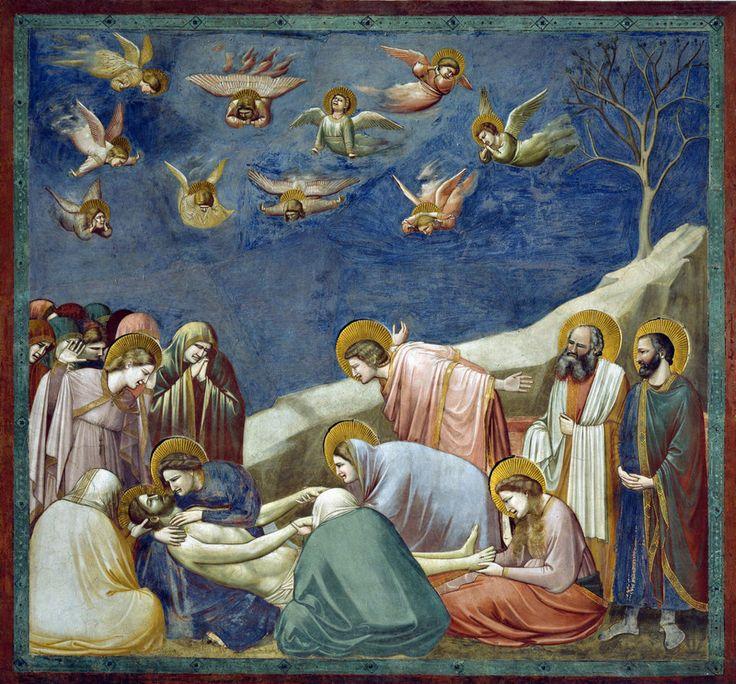 GIOTTO, Cappella degli Scrovegni, particolare compianto di Cristo
