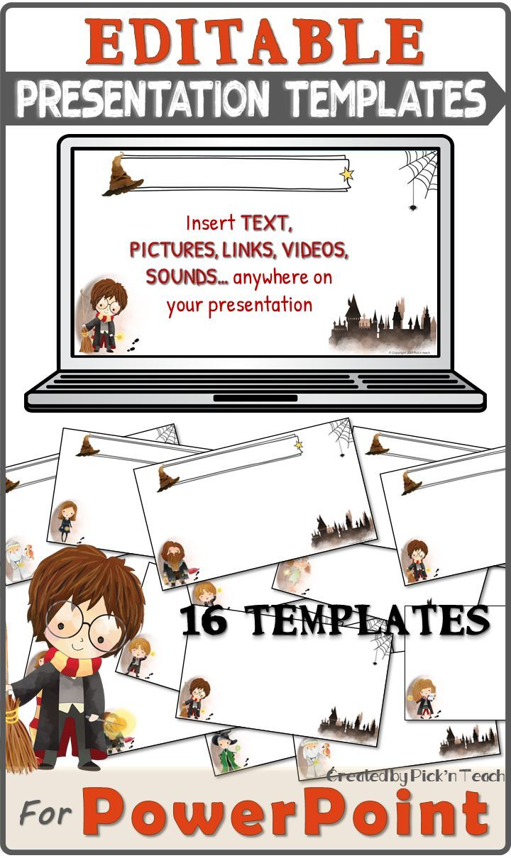 Here Are The Presentation Templates I Created For My Harry Potter Fans This Year You Wi English Language Learners Activities Templates Presentation Templates