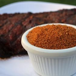 Chipotle Dry Rub  Makes 1/2 Cup     2 tablespoons brown sugar      2 tablespoons ground dried chipotle pepper      1 tablespoon paprika      1 tablespoon dry mustard powder      1 tablespoon ground cumin      1 tablespoon salt