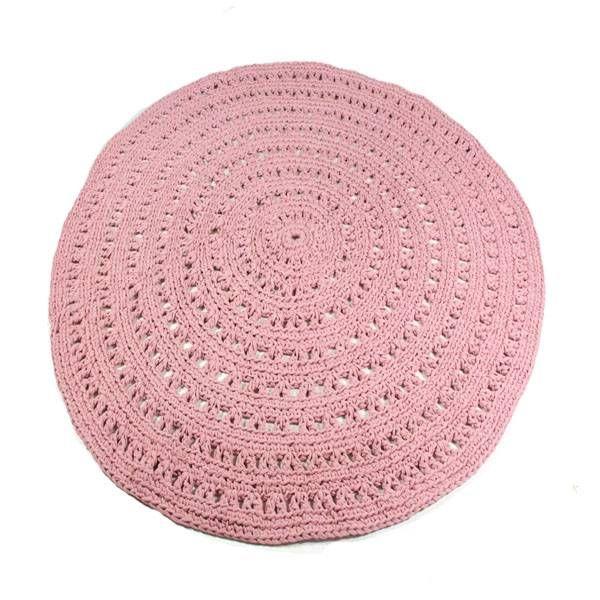 cute rug! Naco Trade gehaakt vloerkleed oudroze Ø150cm
