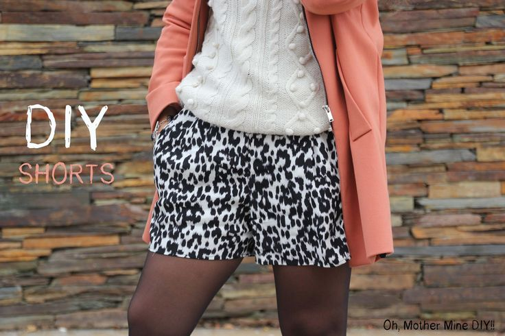 DIY Como hacer y coser un pantalón corto shorts con bolsillos