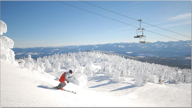 Skiing at Big White in Kelowna, BC
