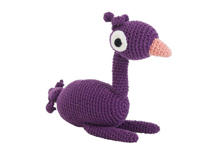 Sebra Hæklet emu - Tinga Tango Designbutik. Interiørbutik - Interior - Children - Børn - Toys - Legetøj - Brugskunst - Design - Kunst - Webshop - Billig fragt - spil - games - Djeco - Janod - Sebra - Esthex