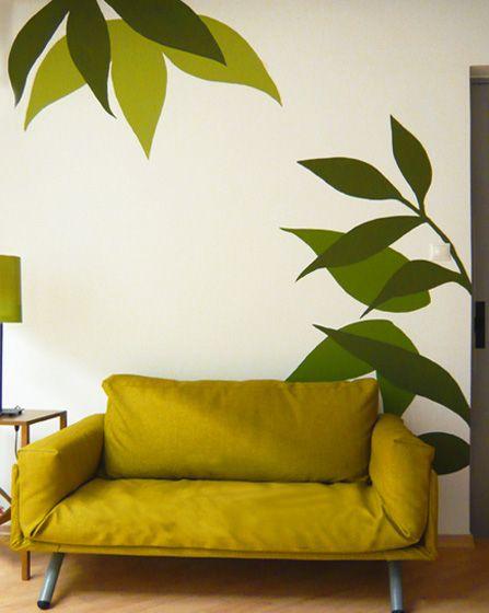 Ζωγραφική στον τοίχο σαλονιού. Δείτε περισσότερες ιδέες διακόσμησης πάνω από τον καναπέ στη σελίδα μας, www.artease.gr