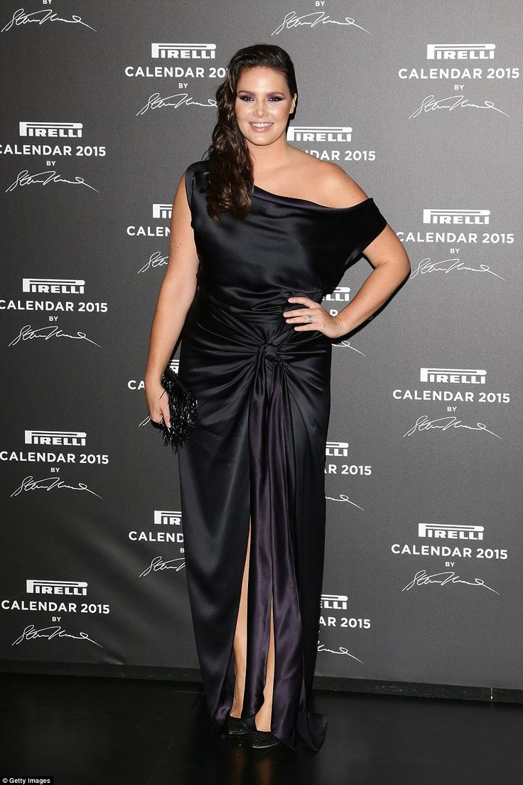 Candice Huffine attends the 2015 Pirelli Calendar Red Carpet on November 18, 2014 in Milan