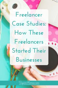 Thinking about starting a freelance business? Learn how 2 freelancers started and grew their freelance businesses with this freelancer case study! These freelancer case studies will help you see where your business could be after just a few months of freelancing...