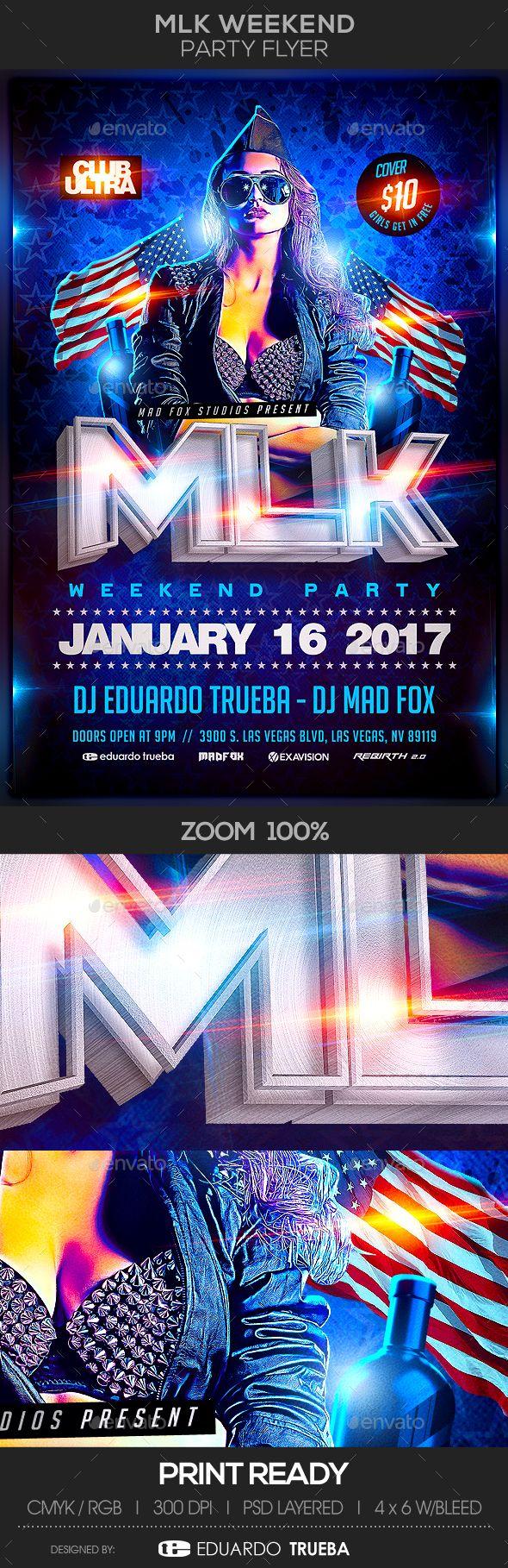 MLK Weekend Party Flyer Template PSD
