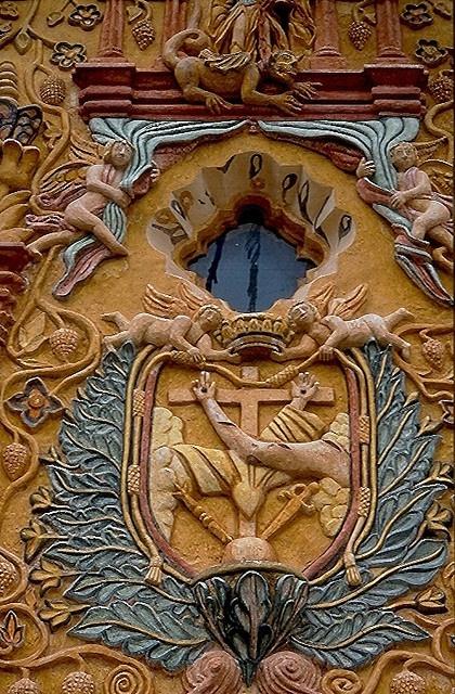 Church facade from the Sierra Gorda of Queretaro Mexico