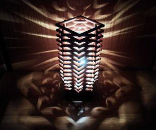 DIY Skyscraper Lamp made with wood dowels
