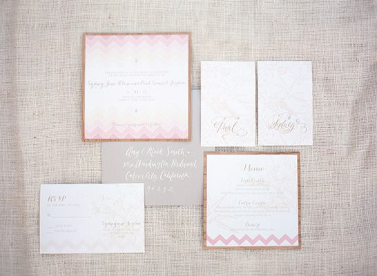 candy table invites by Copper Willow Paper Studio