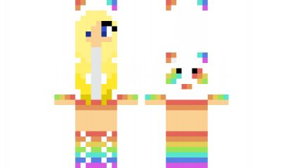 minecraft skin Rainbow-Panda Find it with our new Android Minecraft Skins App: https://play.google.com/store/apps/details?id=studio.kactus.girlskins
