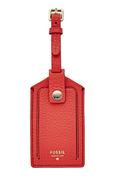 Fossil Leather Luggage Tag