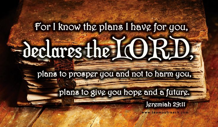 Scripture Cards.  Jeremiah 29:11  @Team Outreach