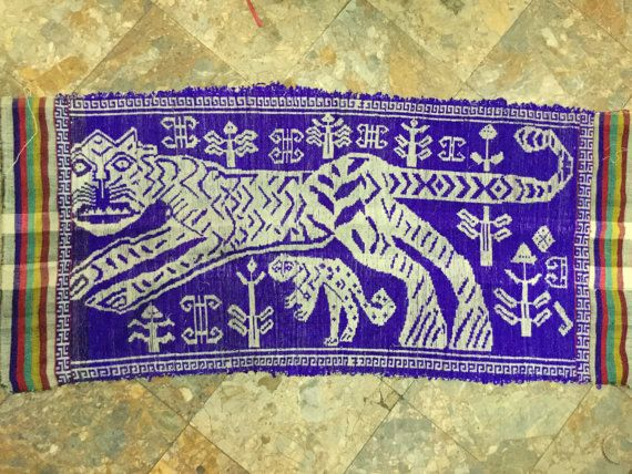 Vintage tribal Thai textile wall hanging fabric in Nghe an province,bordering between Lao and Vietnam country