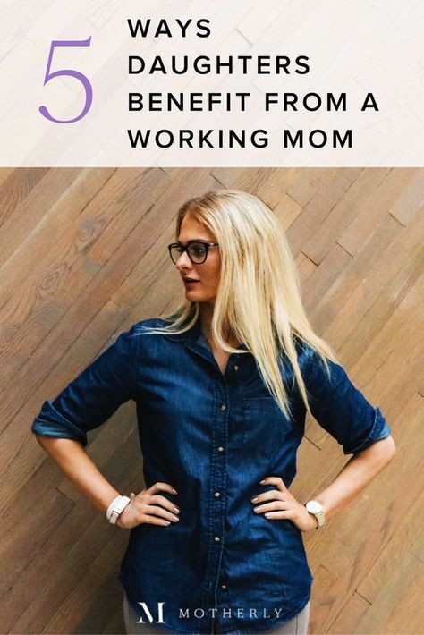 It's true: Children benefit from having a working mom in so many ways! See the statistics + quotes on why working moms rock.